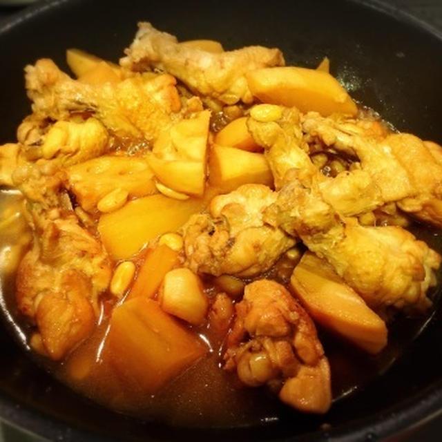 アンチエイジング料理 コラーゲンたっぷり鶏と大豆のアドボ