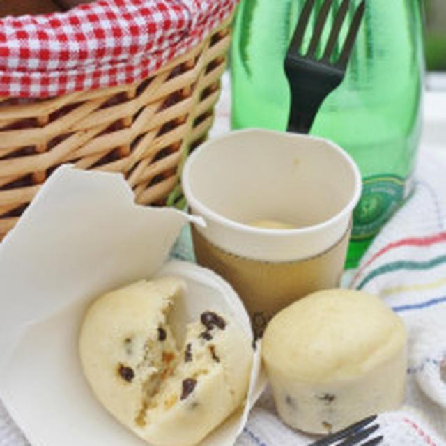 レシピブログ「くらしのアンテナ」掲載!「レーズンとパルメザンチーズの紙コップ蒸しパン」