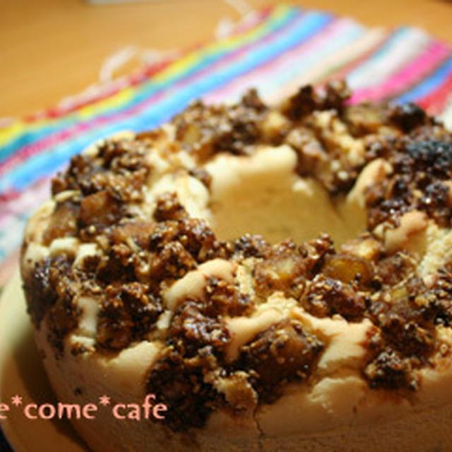 黒糖カラメリゼのさつまいも米粉ケーキ