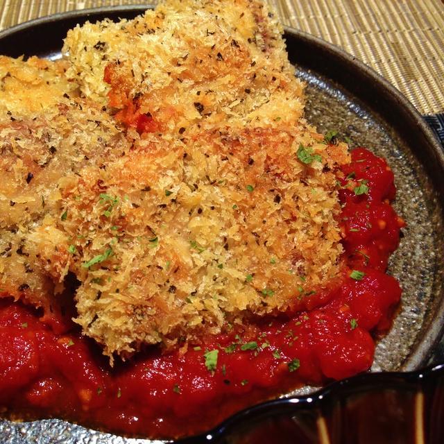 秋刀魚のフライ~トマトソース~
