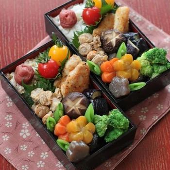まぐろのパン粉焼きと常備菜 ✿ 親子丼(๑¯﹃¯๑)♪