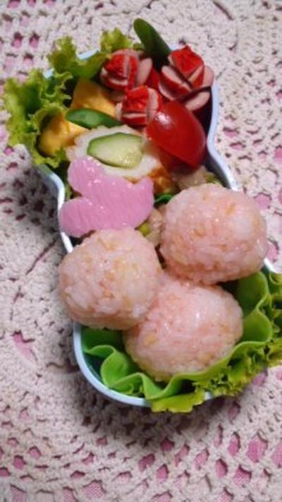 鷄ミンチと味噌納豆炒めのレタス包みと女子高生お弁当【隠れミッキー】