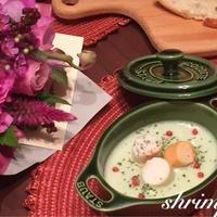 小松菜ともち麦のポタージュスープ &キュキュットCLEAR泡スプレー