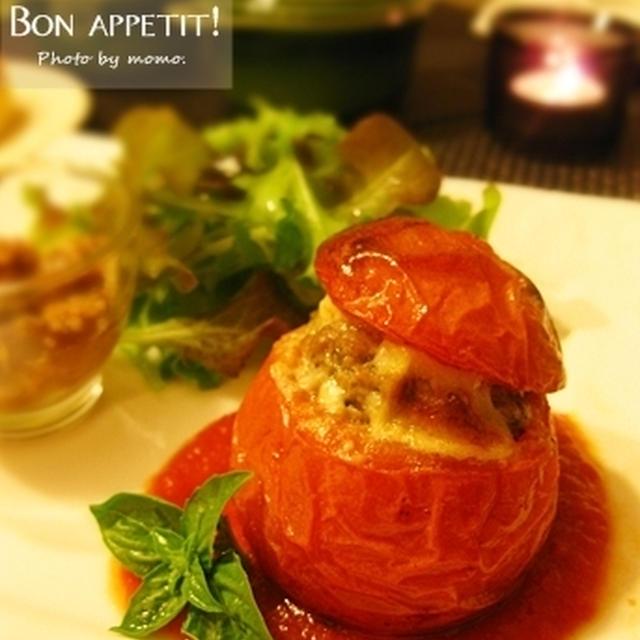 トマトの肉詰め プロヴァンス風