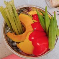 米油で♪〜さっくり美味しい夏野菜の天ぷら〜