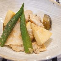 ナムルの素で筍と豚肉の炒め物