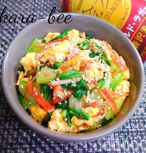 【静岡クッキングアンバサダー】お弁当におつまみに♪かに玉チンゲン菜の簡単おかか和え