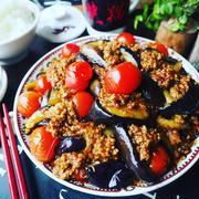 茄子レシピ色々❤️と、おかわりがとまらない❤️お肉多めのがっつり麻婆トマト茄子❤️