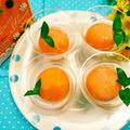 ウェルチのグレープフルーツジュースにみかんの缶詰めを入れて作った真ん丸アイス『ウェルチシ...