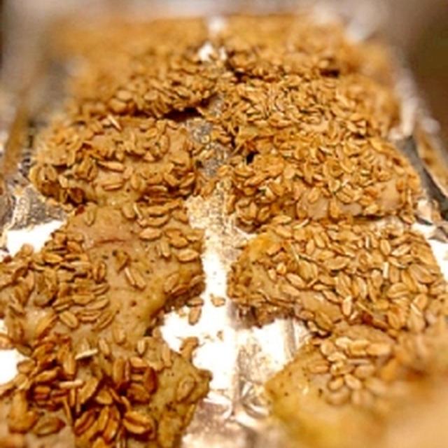 豚肉のライ麦フレーク焼き