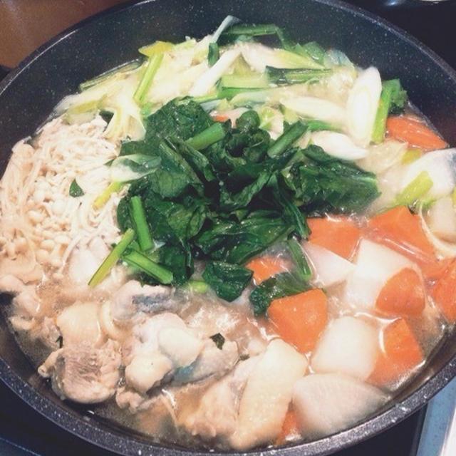 野菜ダシたっぷり*食べる塩麹スープ*