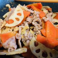 クミン香る☆牛肉と根菜のオイスター炒め♪