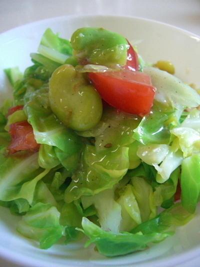 春キャベツの温野菜サラダ