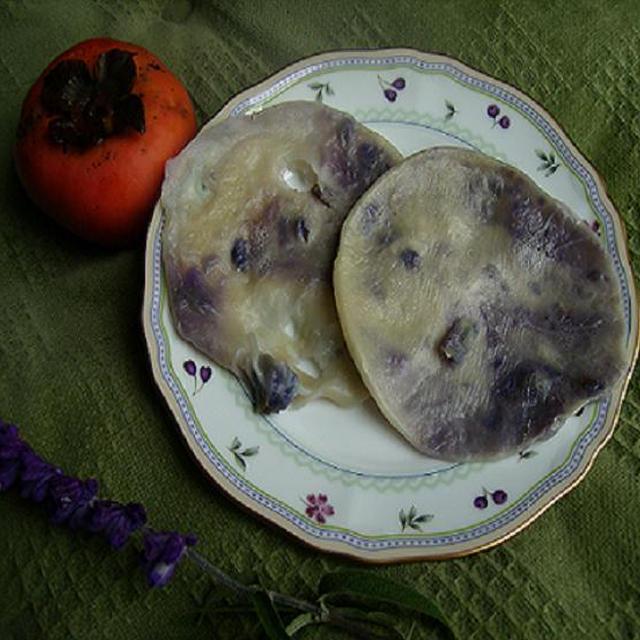 紫芋のゆでもち