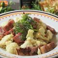 【レシピ】カリフラワーと厚切りベーコンのホットサラダ ハニーマスタード味