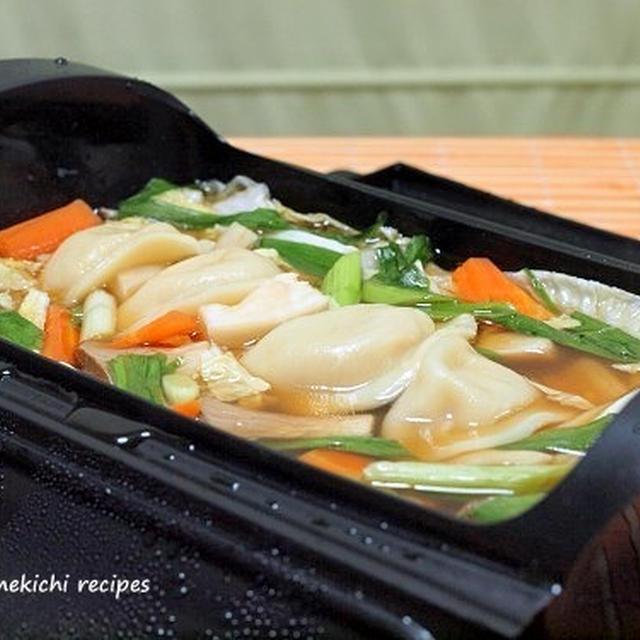ルクエで「水餃子のオイスター蒸し煮」&超簡単「ニラ玉焼きそば」