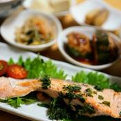 減塩☆鮭の大葉焼き