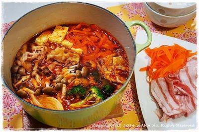 簡単■和風・具沢山トマトカレー鍋■意外な美味しさ♪(*´Д`)