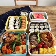 運動会のお弁当オカズ。シフォンケーキ。