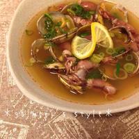 BRITAのお水で♪あさりとホタルイカのスープ レモン仕立て