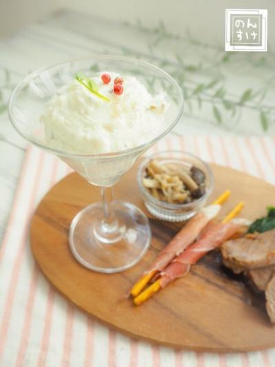【レシピ】バジルポテトクリームのディップ