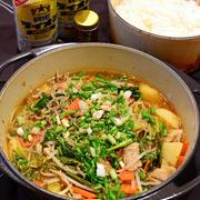 3月20日 火曜日 豚ばらとキャベツの辛味噌鍋