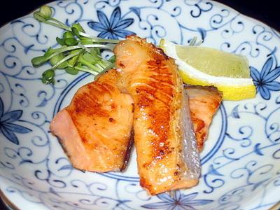 フライパン de 焼き塩鮭