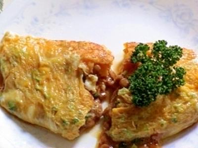 健康法師の とろ~りおいしい 納豆チーズオムレツ