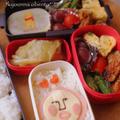 9月8日のお弁当 こびとづかんのカクレモモジリ