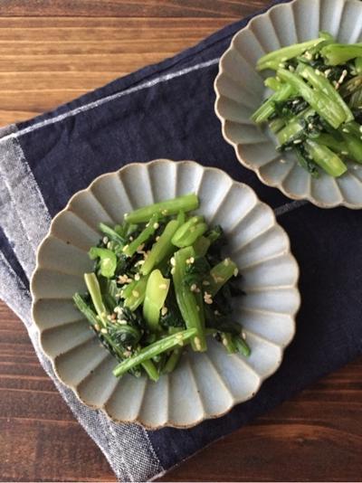 5分レシピ【小松菜のナムル】消しゴム詰め放題w