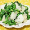 ジャガイモと菜の花のペッパー塩麹和え