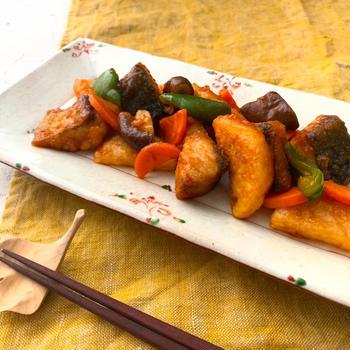 サバと長芋の酢豚風