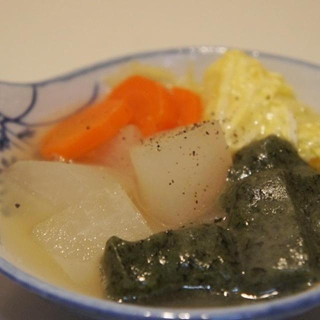よもぎ餅と野菜の塩鍋☆☆