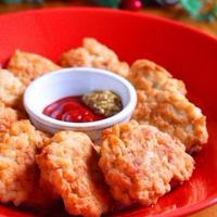 チーズチキンナゲット♪簡単クリスマスレシピ