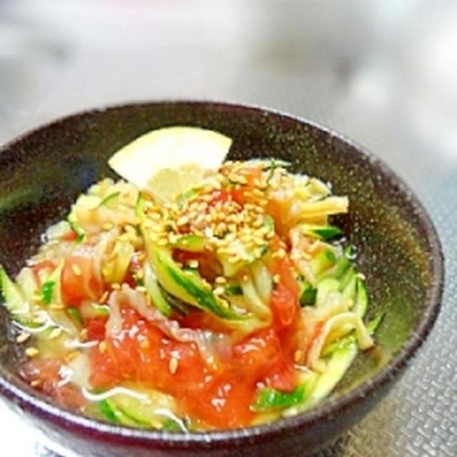 簡単おつまみ☆クラゲのトマト酢の物