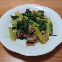 ぱぱっと♪ 小松菜と豚肉のコリアンダー炒め