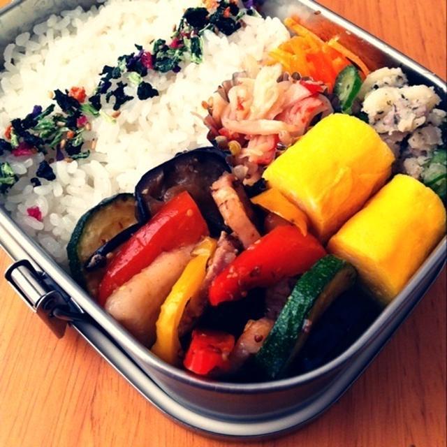 夏野菜マスタード焼き弁当