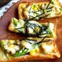 【簡単!!カフェごはん】照り焼きチキンとアスパラのマヨコーントースト