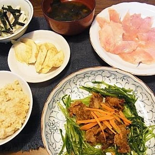 壬生菜活用メニュー&やっぱり息子~♪
