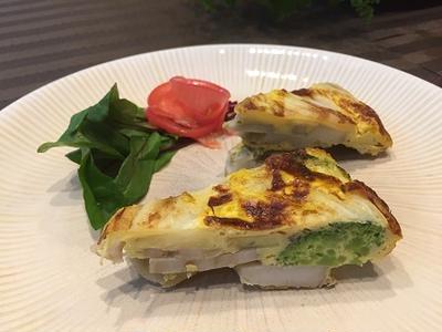 旬の白菜・根菜で優しい味の和風スパニッシュオムレツ~♪♪