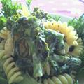 菜の花の白味噌パスタ