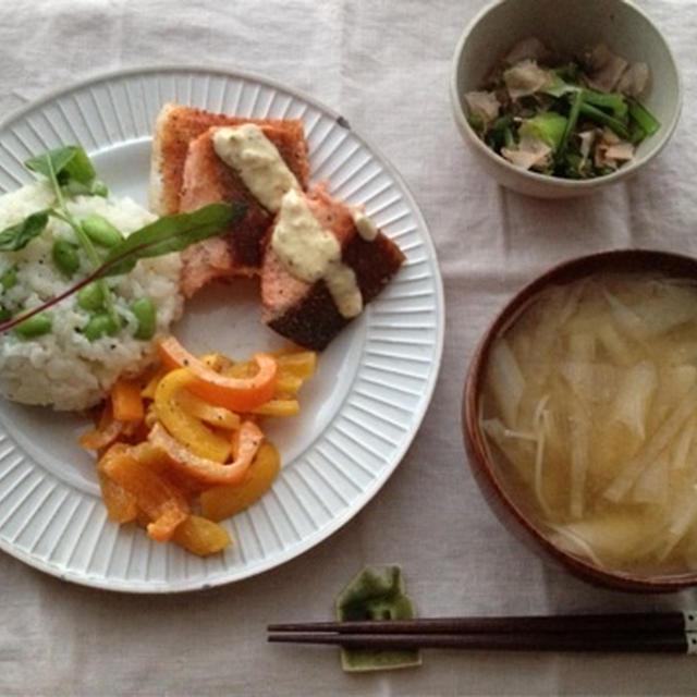 枝豆とチーズの混ぜご飯