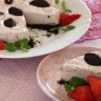 【レシピ】オレオとイチゴのヘルシーレアチーズケーキ