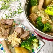 ローズマリーに恋した豚肉とジャガイモのオーブン煮込み