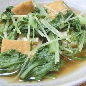 大量消費したいときに!水菜を使ったお手軽「さっと煮」レシピ