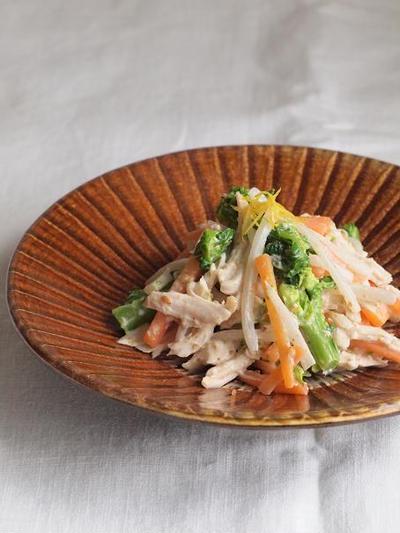 春野菜とささみの塩麹マヨネーズ和え