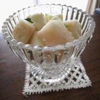 白桃とモッツアレラチーズのひんやりデザート