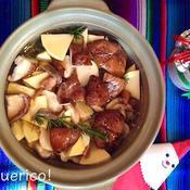 菊芋と椎茸のアヒージョ