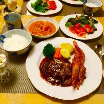 手作り夕食(洋食)