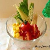そうめんと夏野菜のパフェスタイル